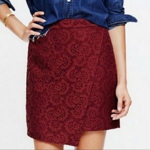 Madewell Lace Asymmetrical Skirt | Size 6